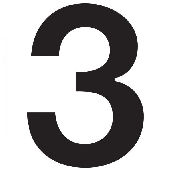 """Numer na dom """"3"""" czarny"""