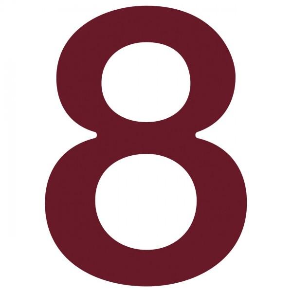 """Numer na dom """"8"""" czerwony"""