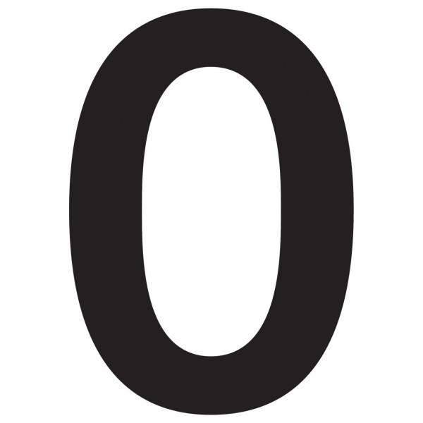 """Numer na dom """"0"""" czarny"""