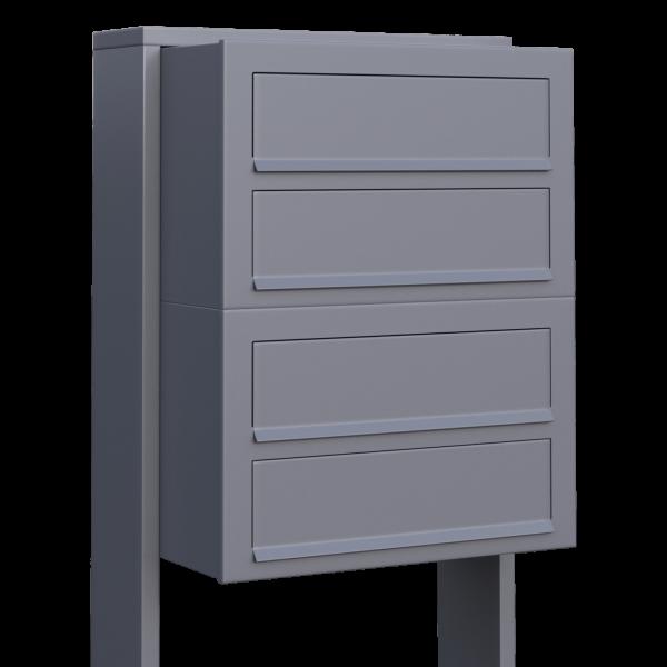 Skrzynka lokatorska Cube for Four szara metaliczna