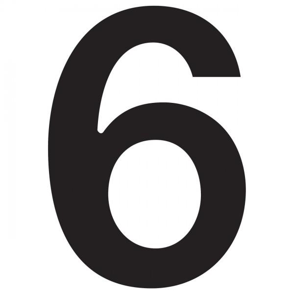"""Numer na dom """"6"""" czarny"""
