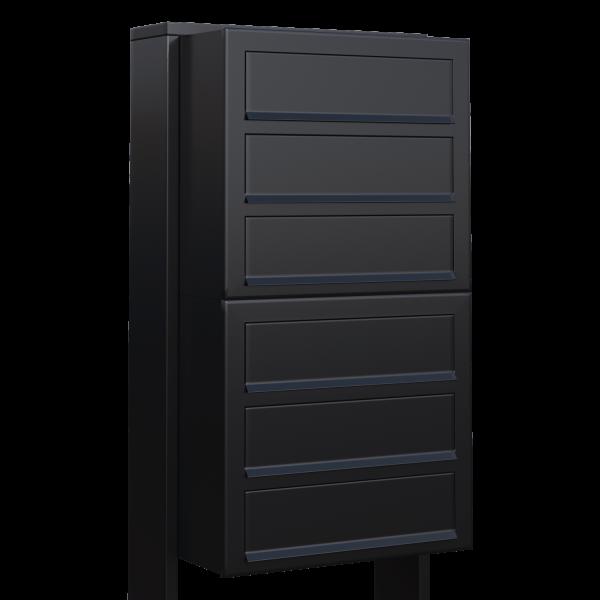 Skrzynka lokatorska Cube for Six czarna