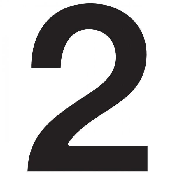 """Numer na dom """"2"""" czarny"""
