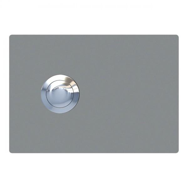 Przycisk dzwonkowy Prostokat szary metaliczny
