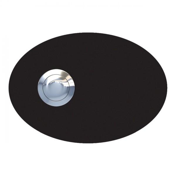 Przycisk dzwonkowy Elipsa czarny