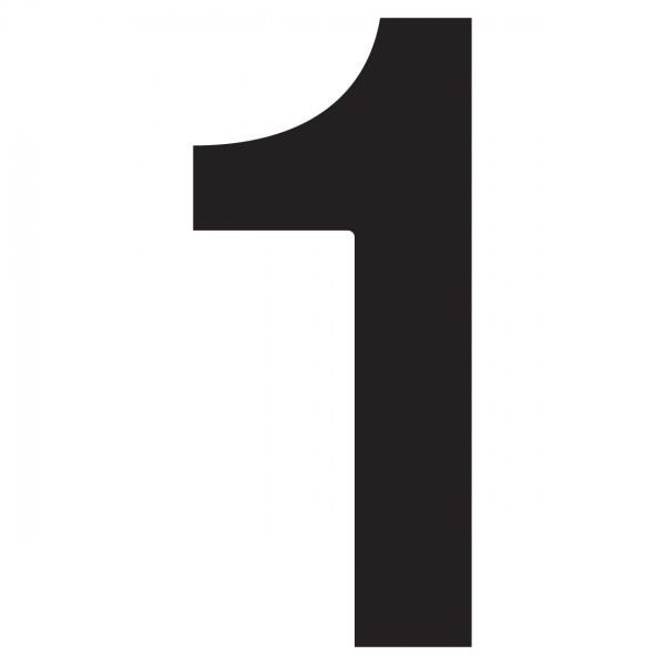 Nummer Design Hausnummer 1 Schwarz