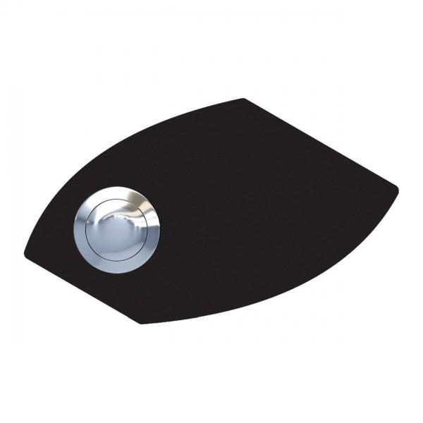 Przycisk dzwonkowy Trapez czarny