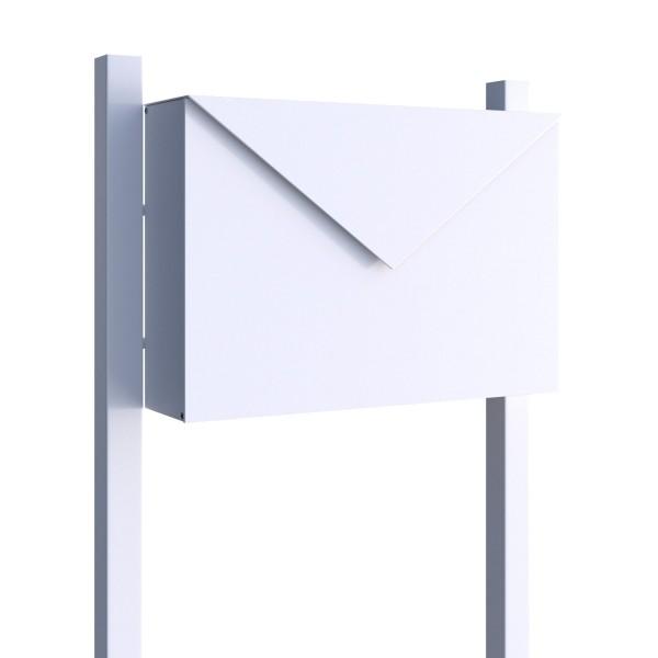Wolnostojąca skrzynka na listy Letter biała