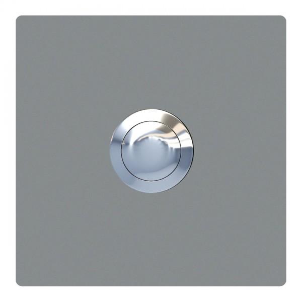 Przycisk dzwonkowy kwadrat szary metaliczny