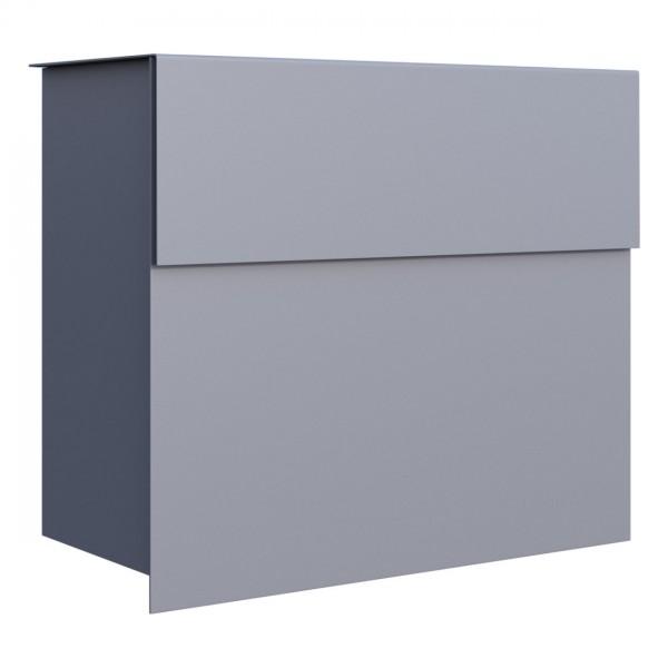 Briefkasten, Design Briefkasten grau metallic