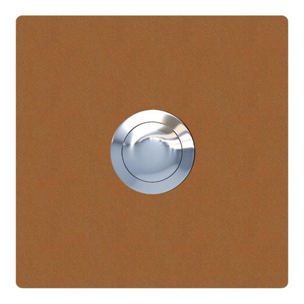 Przycisk dzwonkowy kwadrat rdza