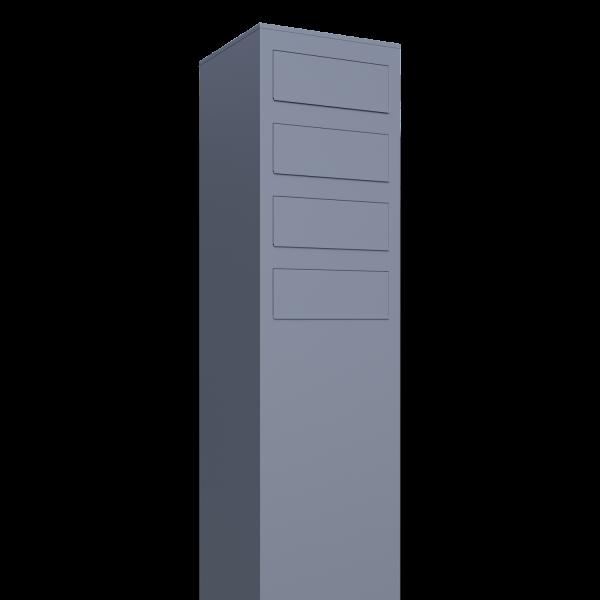 Briefkasten Design Briefkastenanlage Grau