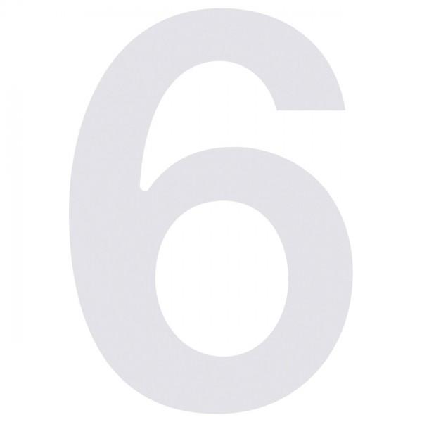 """Numer na dom """"6"""" biały"""